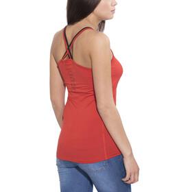 Ocun Corona Mouwloos Shirt Dames rood